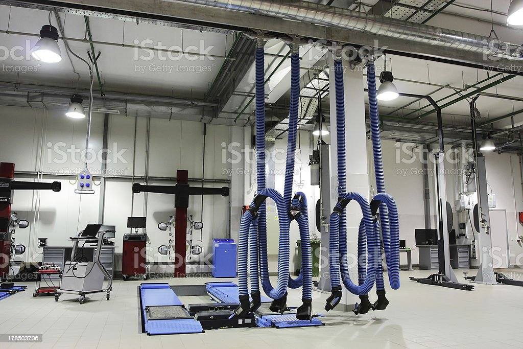 repair garage royalty-free stock photo