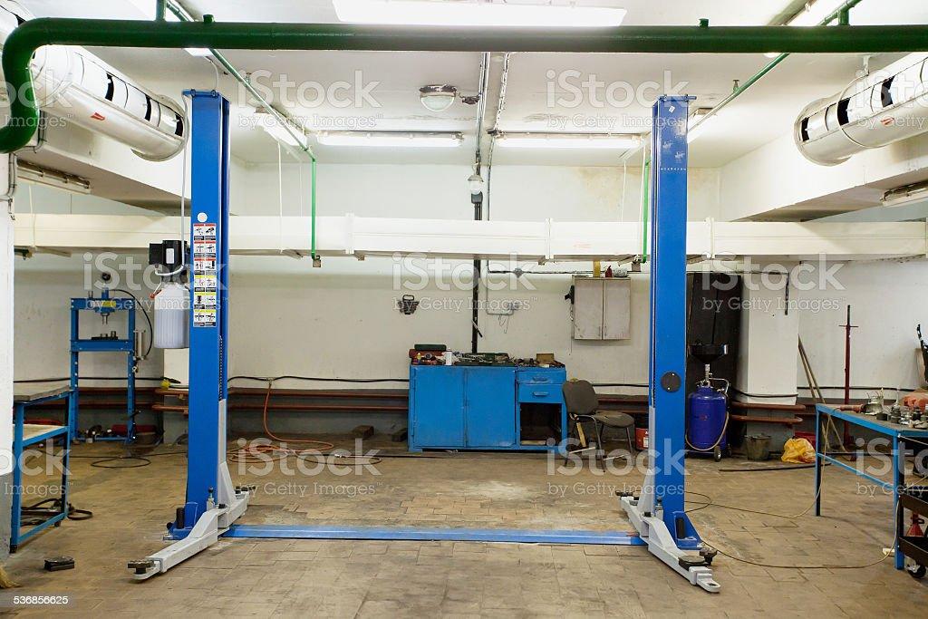 repair garage stock photo