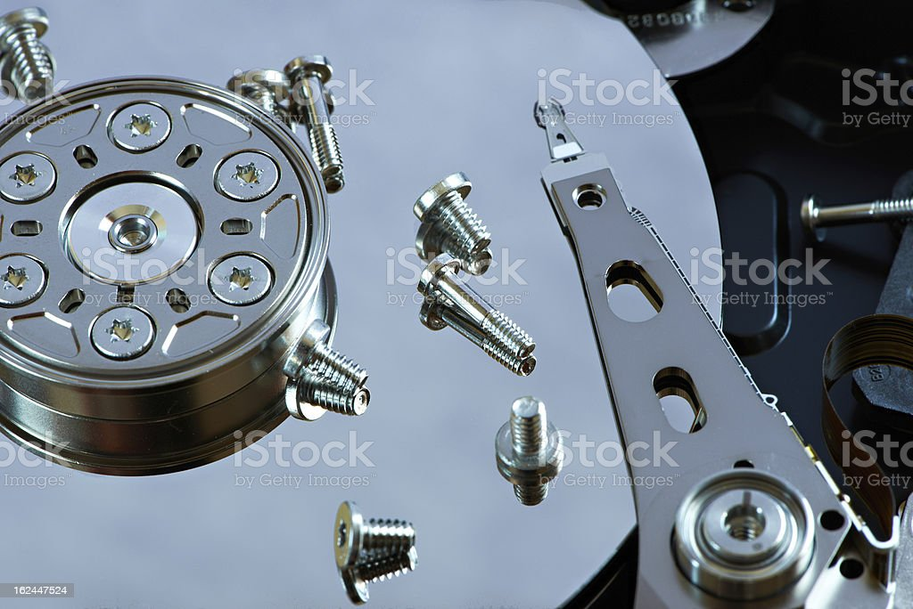 Repair hard disk royalty-free stock photo