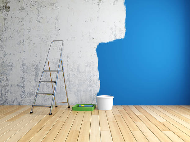 repair in room - painter stock photos and pictures
