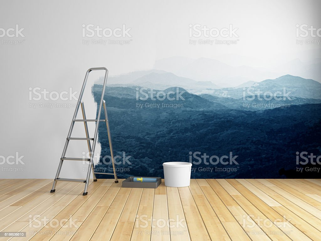 Repair in room stock photo