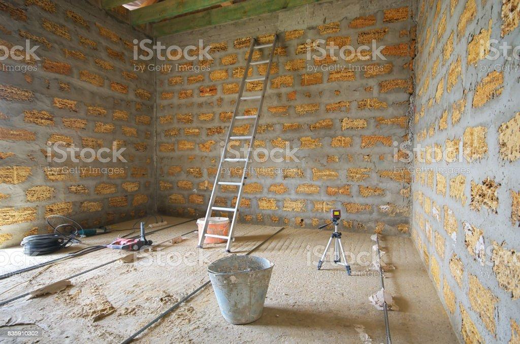 Repair in room. stock photo