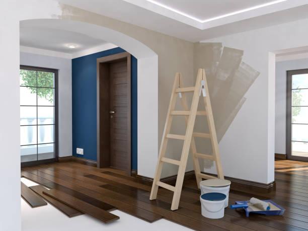 Reparatur in der Wohnung, 3D illustration – Foto