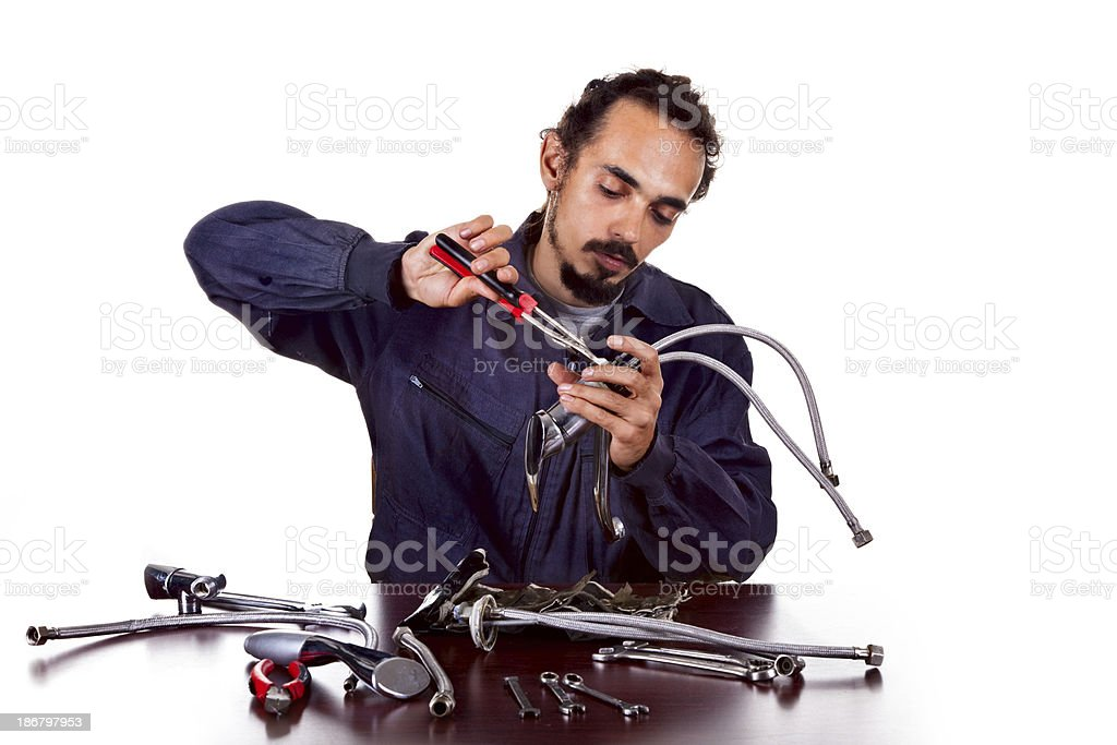 Repair man royalty-free stock photo