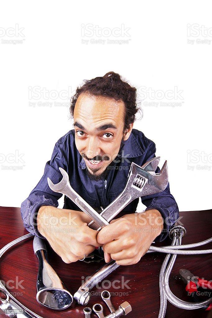 Repair man royalty-free stock photo