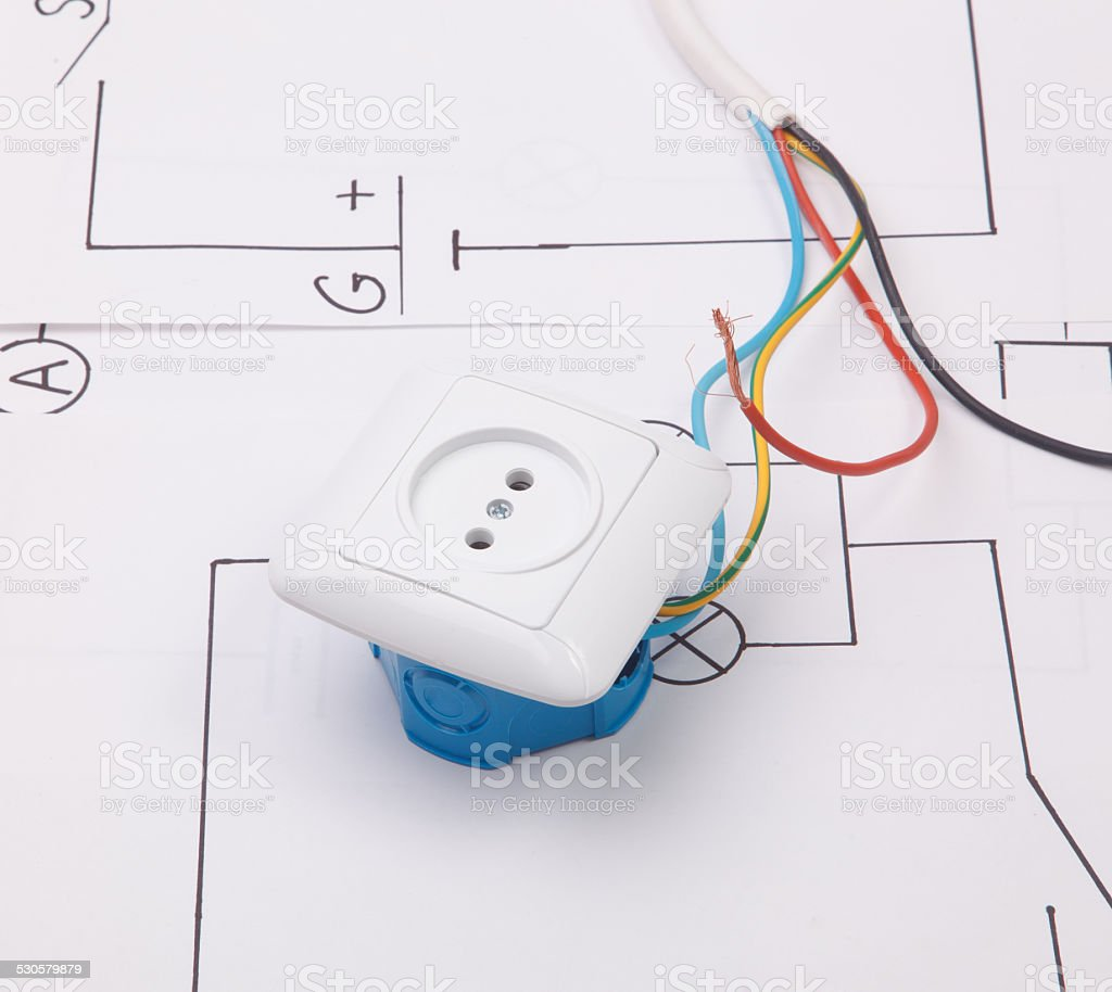 Repair Of Electrical Installation In The House And Wires Stock Photo Wiring Diy Electronics Aerodynamic Appliance Outlet Electrician