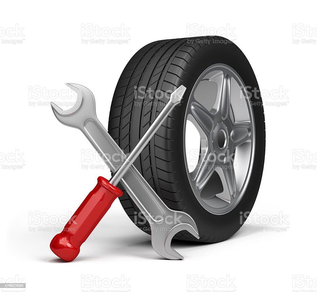 Repair of motor vehicles stock photo