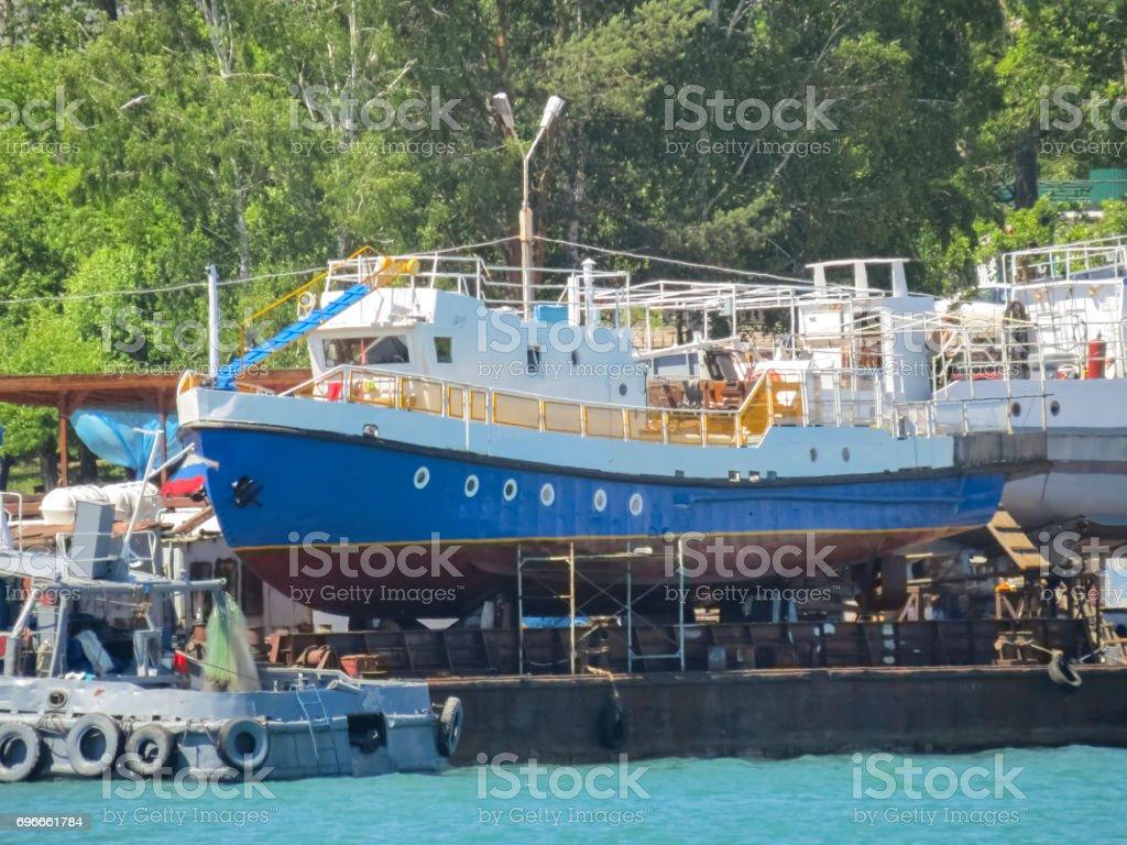 Repair shipyard. stock photo