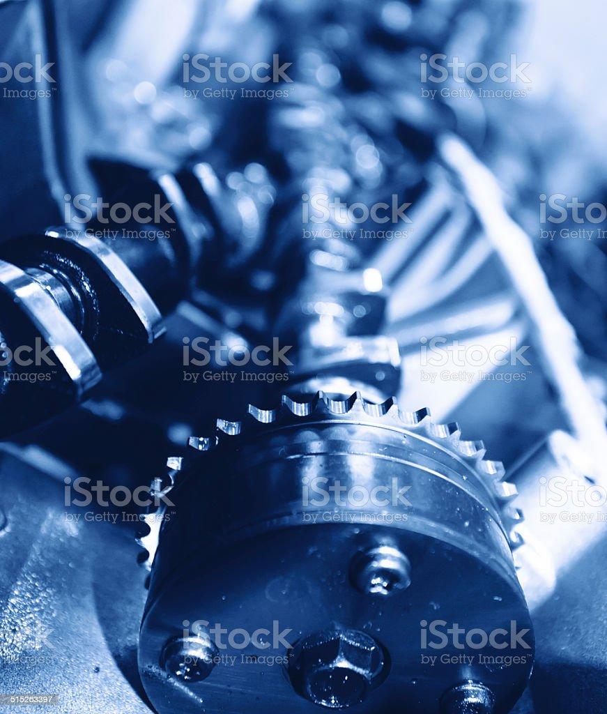 Repair the car engine stock photo