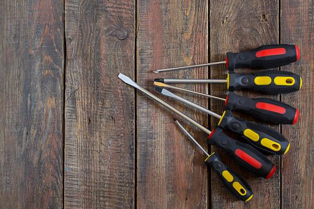 Repair Tools: screwdrivers stock photo