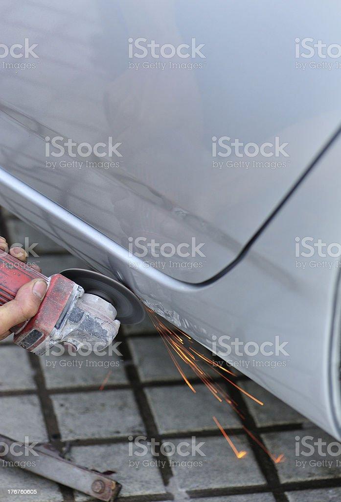 repair wrecked  vehicle royalty-free stock photo