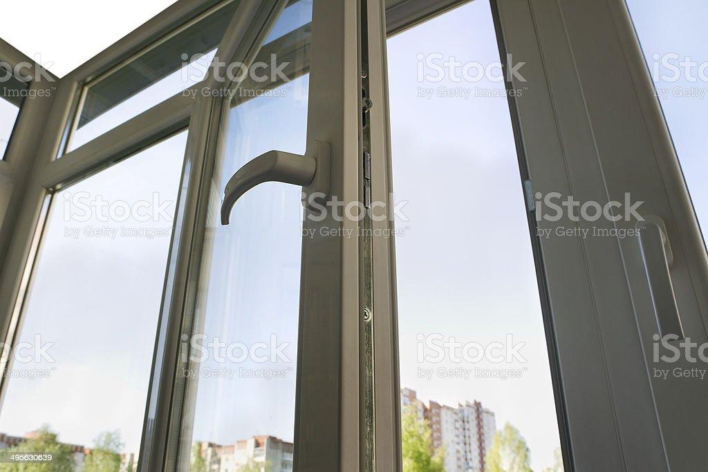 Repaired balkony. stock photo