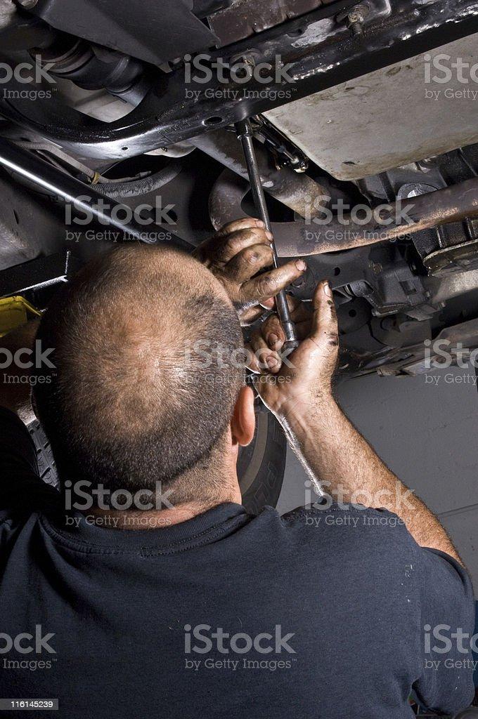 Repairing a car royalty-free stock photo