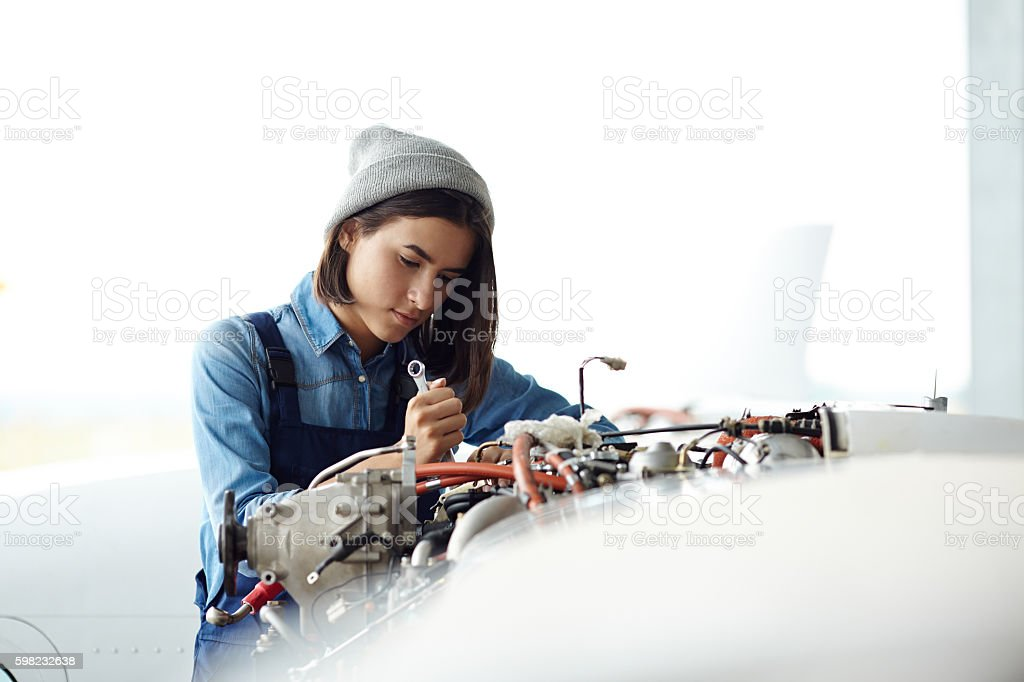 Repairing air jet stock photo