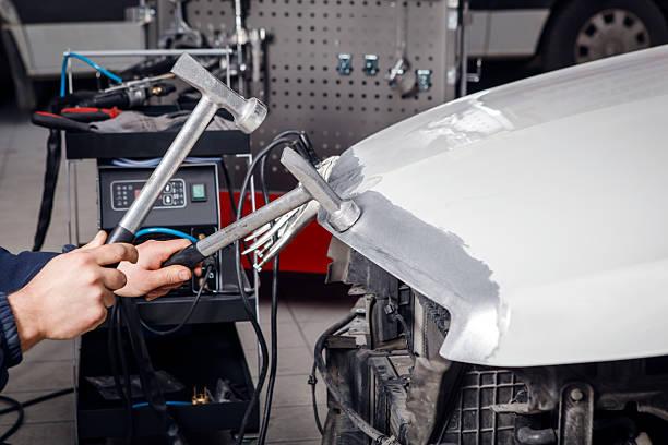 Repairing Car Body stock photo