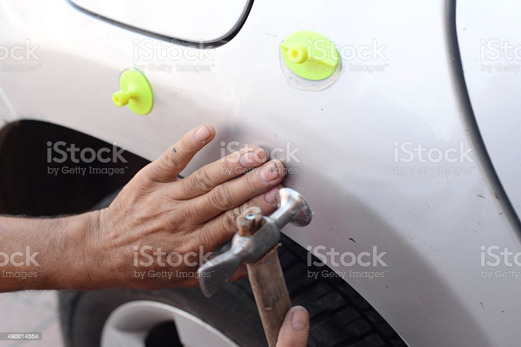 Repairing Car Body,vacuum,silicone stock photo