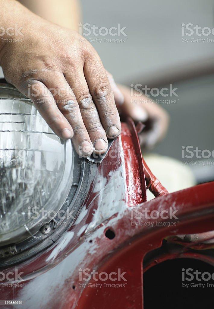Repairing car bodywork royalty-free stock photo