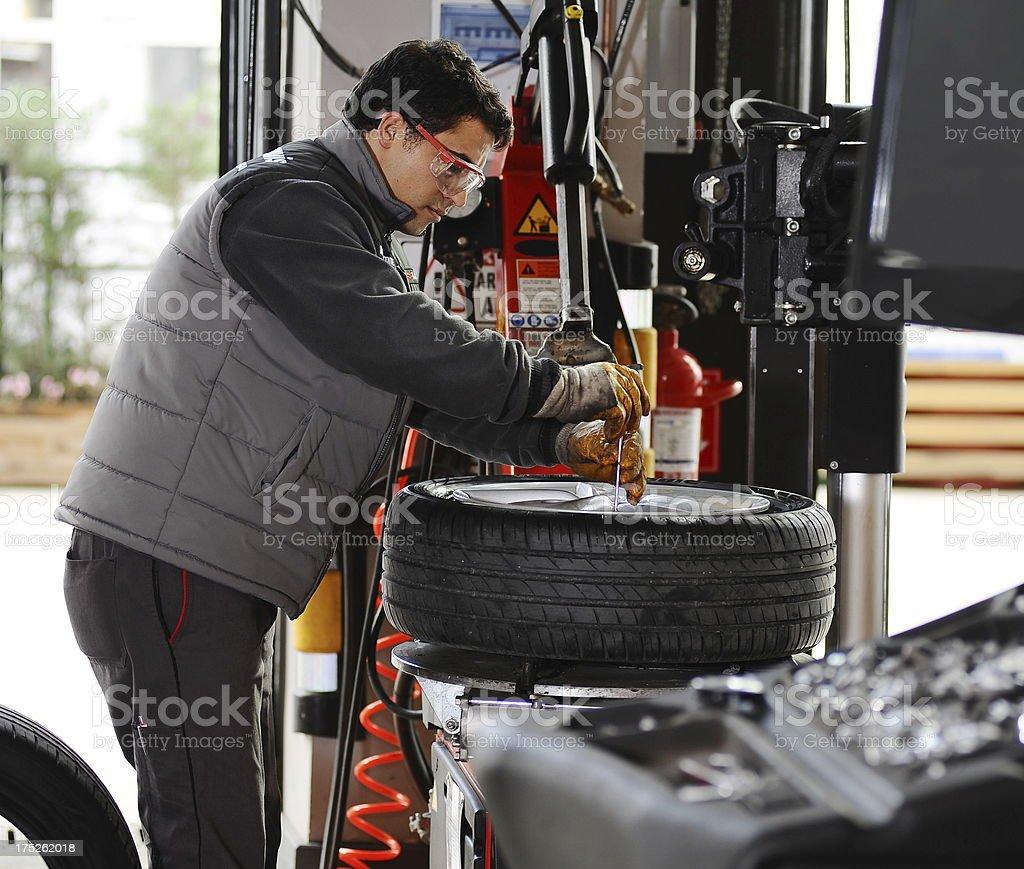 Repairing car royalty-free stock photo