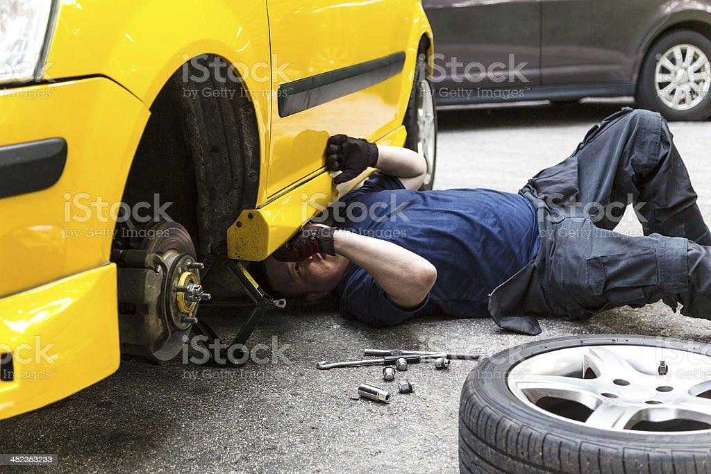 Repairing Car stock photo