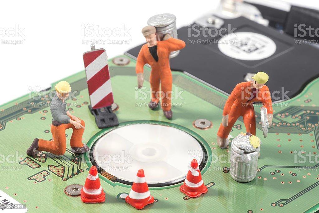 repairing computer equipment stock photo