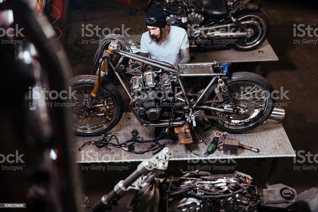 Repairing motor stock photo