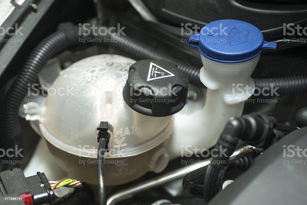 repairing the car heat exhange water stock photo