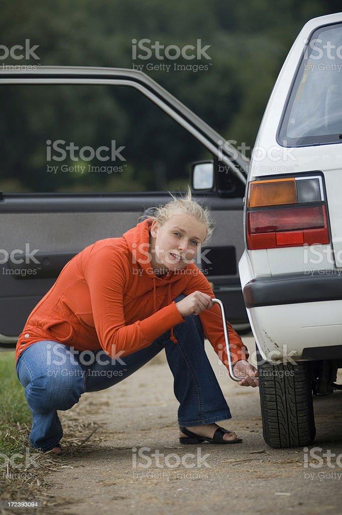Repairing the car royalty-free stock photo