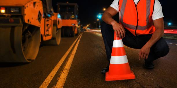 Reparatur der Straße – Foto