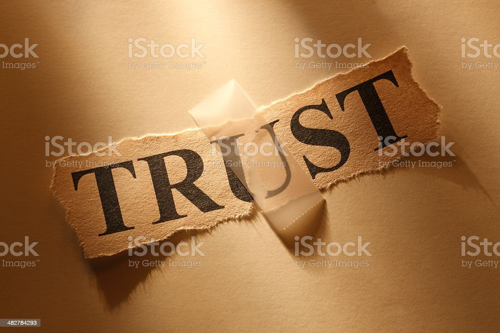 Repairing Trust stock photo