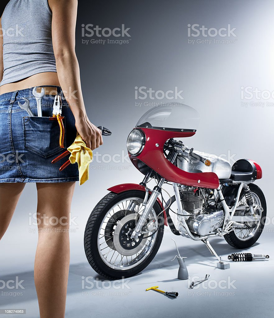 Repairing woman royalty-free stock photo