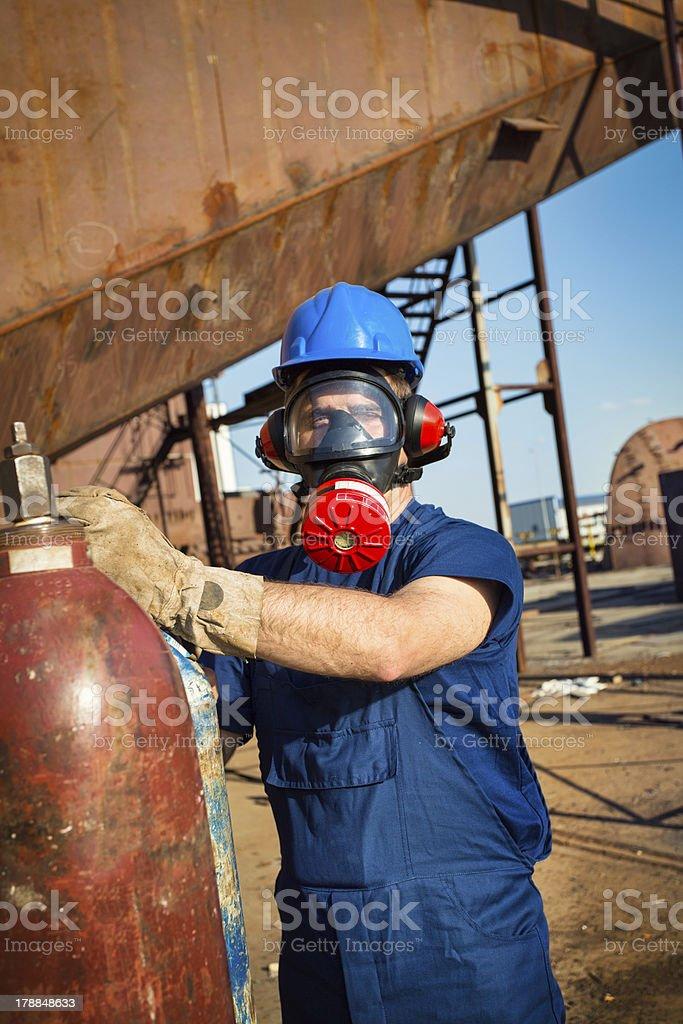 Repairman and mechanic stock photo
