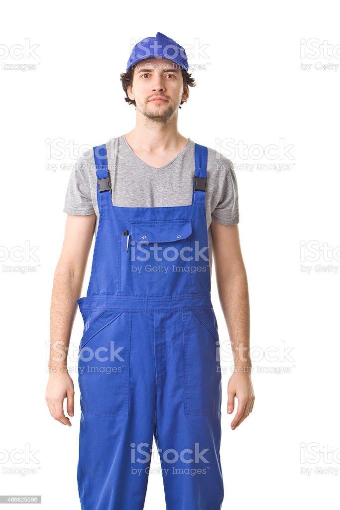 Repairman. Can I Help You. stock photo