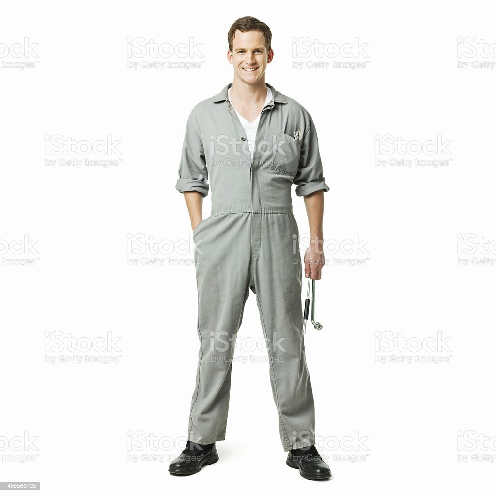 Repairman in Coveralls - Isolated stock photo