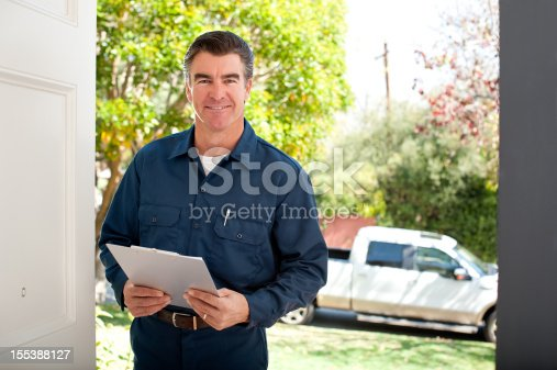 istock Repairman In Uniform 155388127