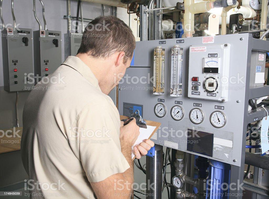 Repairman - Indicator royalty-free stock photo