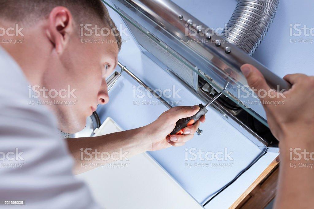 Handwerker Ausbesserungsdetails Küche Extraktor - Stockfoto | iStock