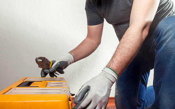 handwerker - plastikbeutel handwerk stock-fotos und bilder