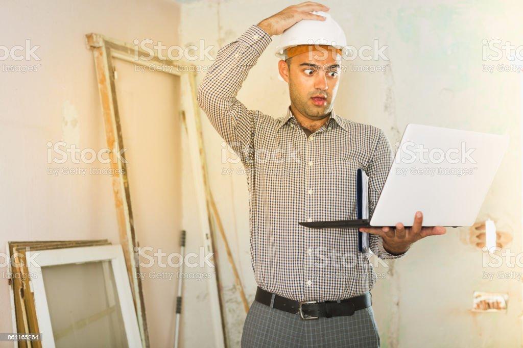 repairman surprised royalty-free stock photo