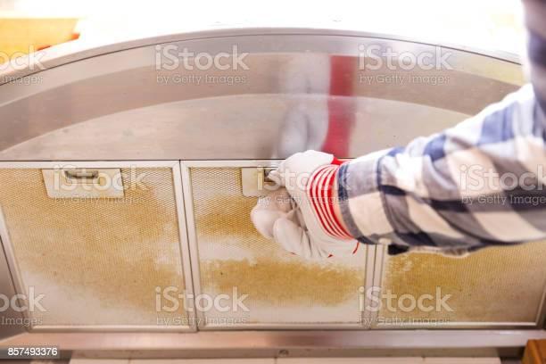 Repairman taking filthy aluminum mesh filter out of the cooker hood picture id857493376?b=1&k=6&m=857493376&s=612x612&h=d8xvymbfuelhijkegihc5kofzreceubd3svcahkrw5o=