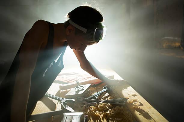 Reparaturen in workshop – Foto