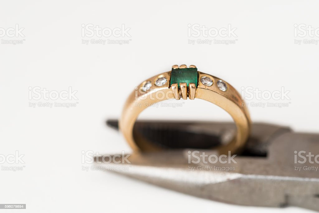 Reparation and restoration of jewelry royalty-free stock photo