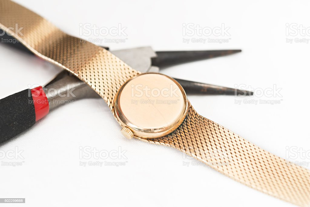 Reparação e restauração de relógios - Foto de stock de 2015 royalty-free