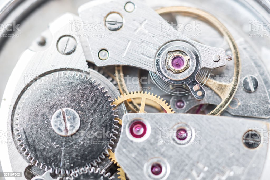 Reparation and restoration of watches royalty-free stock photo