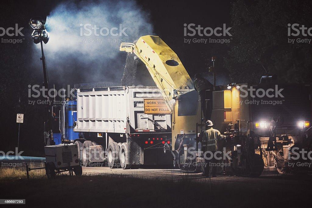 Bodenbelags- bei Nacht – Foto