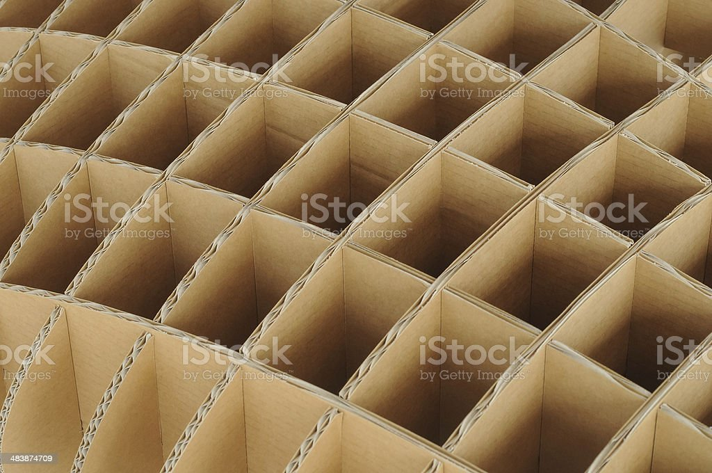 Repeated structure of recycle carton cardboard stock photo