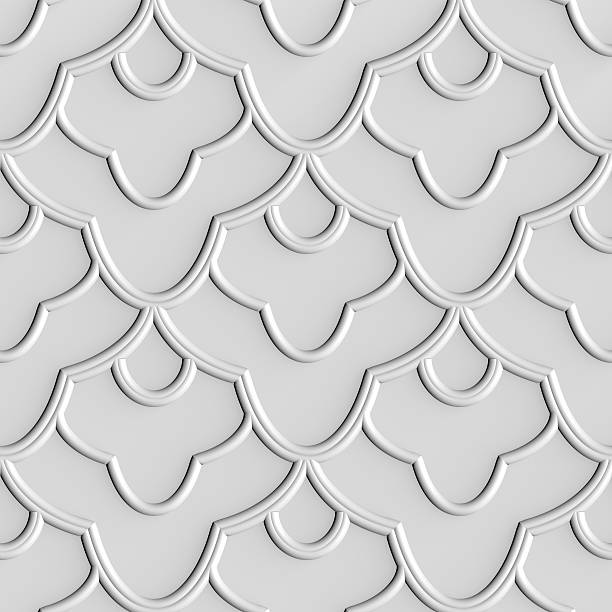 repeating 3d pattern - foliate pattern stock photos and pictures