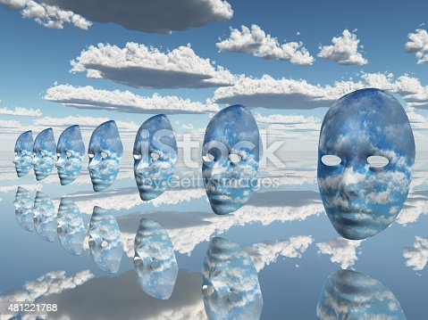 istock Repeating faces of clouds 481221768