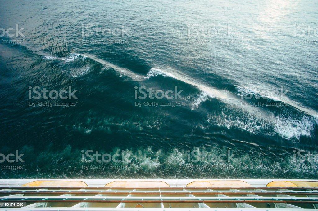 Repeating sea waves royalty-free stock photo