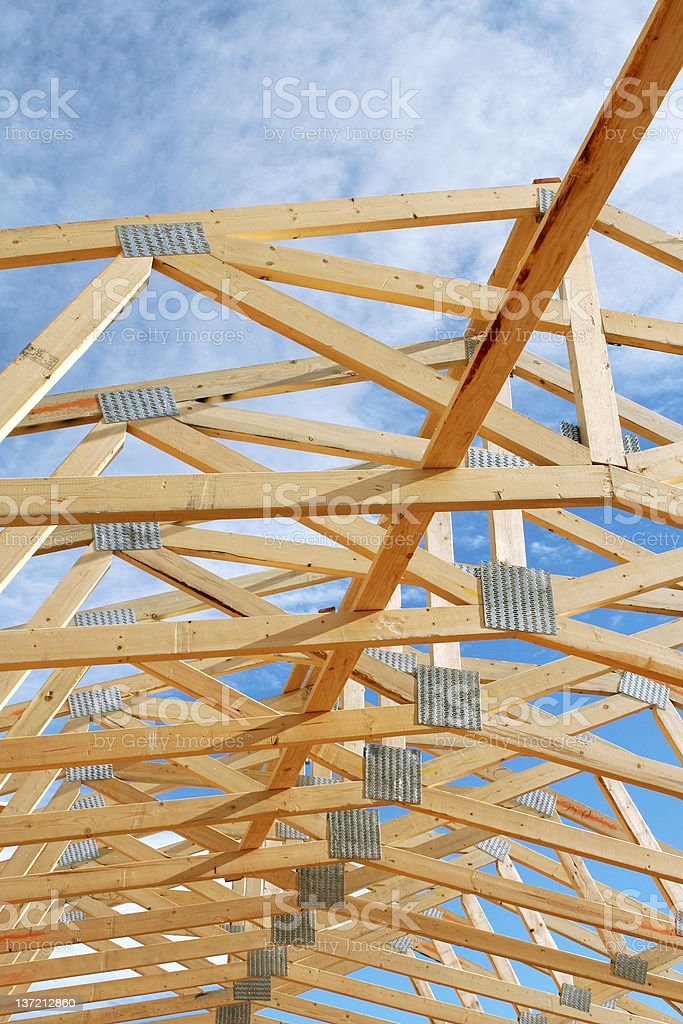 Repeating Trusses stock photo