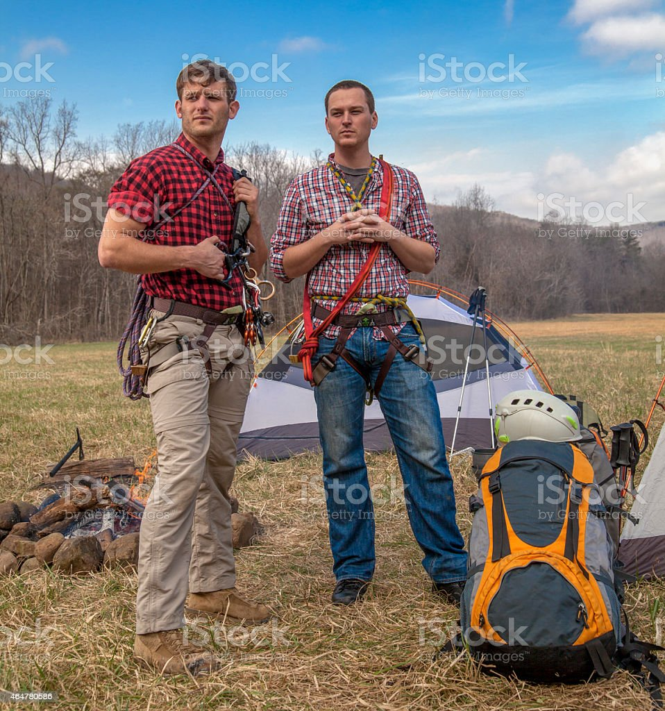 repellers at the campsite stock photo